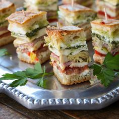 My daughter's friend Taylor introduced me to these delicious make-ahead brick sandwiches.