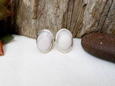 Classic Handcraft Sterling Silver Light Pink Pearl Oval Earrings,Mother Pearl Earrings,Oval Shell Earring,Personalized Gifts,Gifts For Her by Supsilver on Etsy