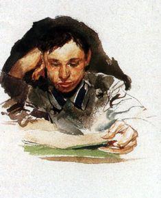 Portrait of a Student — Mikhail Vrubel   biblioklept