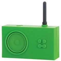 Bright green rubber radio?  Yes, please!