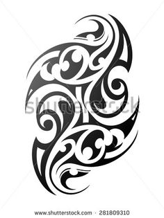 Maori tattoo. Ethnic ornament with traditional polynesian motives - stock vector