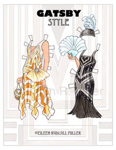 1920's Gatsby Style Paper Doll