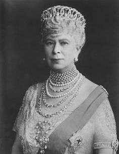 Queen Mary acquired the fabulous diamond tiara made by Bolin for the Grand Duchess Vladimir of Russia after the death of it's original owner in Paris 1921. The tiara was sold by the Grand Duchess's daughter Elena. More info and photos here. https://www.pinterest.co.uk/d7fc7c0c/tiaras-unlimited-the-vladimir-cirlces-tiara/