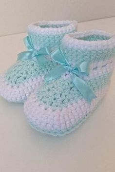 Baby Booties with Ribbon or without Ribbon, Gender Neutral, Unisex Crochet Baby Booties, Custom Baby Booties and Crib Shoes by Sweet Little Piglet