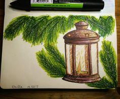 New year. Christmas. Alcohol markers.