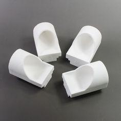 4pcs Dental Lab Casting Quartz Crucible Hooded type #Shaind2014