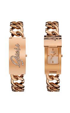 Modell W0321L3, eine extravagante Armband-Uhr. Eine beliebte Uhr von Guess, die wir gerne für Sie gravieren.