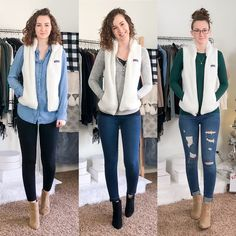 Fall/Winter Date Night Outfits - Capsule Wardrobe Style - Dani Thompson Cute Sweater Outfits, Vest Outfits, Sweater Fashion, Preppy Outfits, Business Casual Womens Fashion, Business Casual Outfits, Classic Outfits, Classic Style, Simple Style