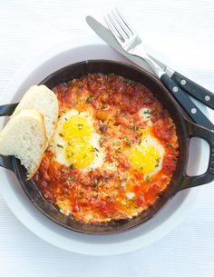 Authentic Italian Food anny italian knows this one. easy and delicious. Eggs with Sauce Uova con il sugo