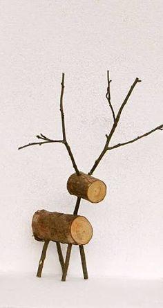 Resultado de imagem para wooden reindeer