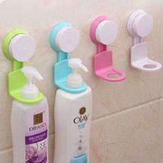 Strong Suction Cup Shower Gel Bathroom Wall Rack Storage Hooks Stand Organizer