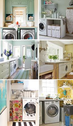 Laundry Rooms- http://www.merrimentstyle.com/blog/2011/5/31/interior-decoratinghome-dream-house-laundry-rooms.html