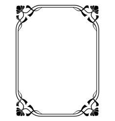 Art nouveau decorative frame vector image on VectorStock Art Deco Borders, Decorative Borders, Doodle Frames, Doodle Art, Book Of Hours, Art Nouveau Design, Borders And Frames, Frame Clipart, Vector Art