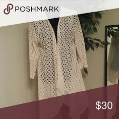 **NWT**Cardigan Detailed Cream Cardigan 60% cotton 40% polyester Sweaters Cardigans