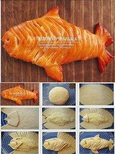baked fish bread just a picture for inspiration Bread Recipes, Cooking Recipes, Pan Relleno, Bread Art, Bread Shaping, Cuisine Diverse, Good Food, Yummy Food, Bread And Pastries