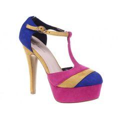Pantofi cu platforma albastri Morgan
