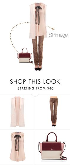 """""""Peach pink with light chocolate - delicious"""" by sp-image ❤ liked on Polyvore featuring Rebecca Minkoff, Stitches and Kate Spade"""