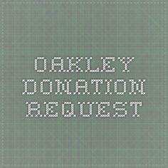 Oakley Donation Request