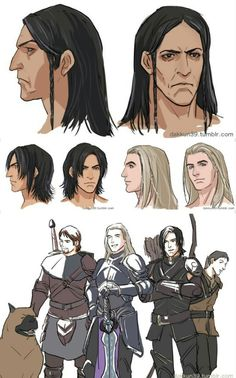 Loghain and Maric, along with who look to be Bryce and Howe Dragon Age 4, Dragon Age Origins, Dragon Age Inquisition, Dragon Age Comics, Dragon Age Series, Dragon Age Games, Pillars Of Eternity, Dragon Age Characters, Grey Warden