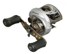 CALERA BAITCAST REEL:  Constructed for all-purpose performance with a 6.6:1 gear ratio in models for both right and left hand cranking, the low-profile Okuma Calera baitcast reel delivers bass, walleye, steelhead and even inshore saltwater anglers a ton of performance for their dollar. A five bearing drive system delivers confident cranking while casting versatility is supported by dual cast control systems.