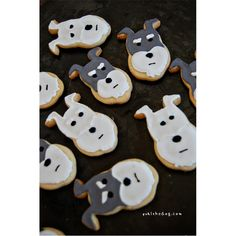 Schnauzer cookies! how cute are they!