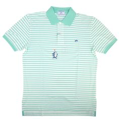 Southern Tide Harbor Stripe Polo 3506-oceanmist - Randy Price and Company