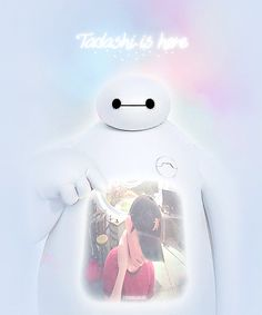 This makes me sad and happy at the same time.I'm sad because he died.I'm happy because Baymax says he's here.