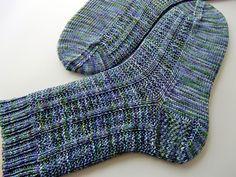 Shadow rib socks