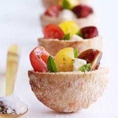 English Tea Sandwiches | Caprese tea sandwiches - | Hip Food