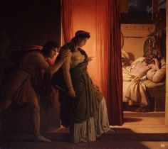 Clytemnestra and Agamemnon. 1822. Pierre Narcisse Guerin. French. 1774-1833. oil on canvas