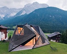 New view on a mountainhouse in the Dolomites, Italy. Absolutely love it, can I rent one?