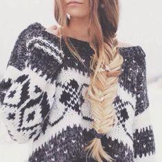 #winter #fashion / pattern print knit
