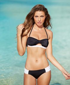 Cut out bandeau & Side-Ruched Hipkini Bottom #MyAlloy