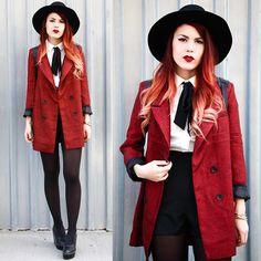 Coat – She Inside, Romper – Missguided, Shoes – Romwe, Backpack – Grafea, Hat – Romwe (by Lua P)