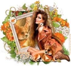 Leather And Lace Tuts: Just me and my dog Me And My Dog, All Flowers, Just Me, Leather And Lace, Maya, Thats Not My, Canvas, Dogs, Artist