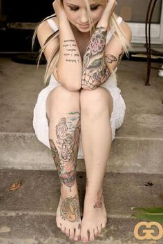 Girls with tattoos are gorgeous