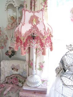 Pink Victorian Lampshade