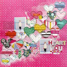 Heart You Jane by @paigeevans @pinkpaislee #scrapbooking