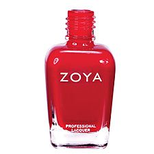 Zoya Nail Polish in Sooki - Bright, clean, crisp cool cherry red cream with subtle jelly finish