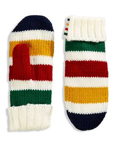 HBC Collections | Accessories | 'The Stripes' Mittens - Multi Stripe | Hudson's Bay