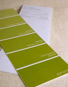 Paint Swatch Housewarming Invitation DIY Printable PDF...this is AWESOME!!