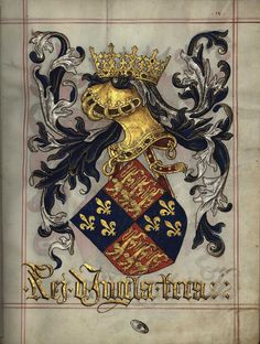 Armas do Rei de Inglaterra (fl 9r)