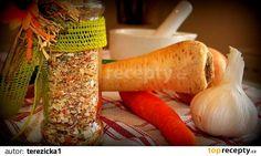 Domácí podravka recept - TopRecepty.cz European Dishes, Dried Vegetables, Spice Mixes, Korn, Kefir, Pickles, Pesto, Carrots, Food And Drink