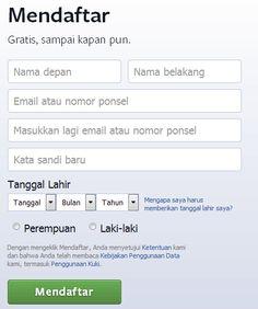 daftar di facebook