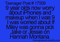 This makes me sad. When I was nine I was worried about why Britney spears and Justin Timberlake broke up