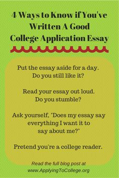 College Essay Examples For  Schools  Expert Analysis  For