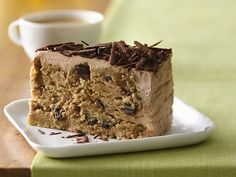 Chocolate Chocolate Chip Ice Box Cake (no bake - except for cookie ingredient - and gluten free)