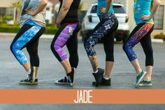 Lularoe Jade workout capris!  Featuring moisture wicking material and a 3M reflective Lularoe logo on the back leg for nighttime runs!