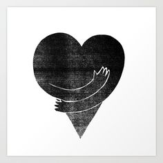 Illustrations / Love Art Print by FAMOUS WHEN DEAD | Society6