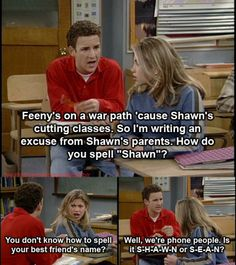 Gotta love boy meets world